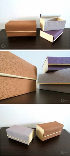 DIY Faux Leather Boxes