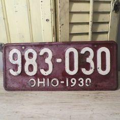 1930 Antique Ohio LIcense Plate Ohio License by oZdOinGItagaiN, $30.00