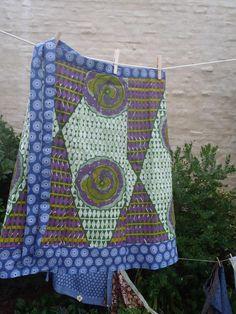 African wrap around skirt