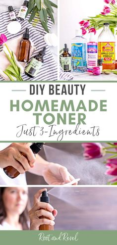 This recipe for a natural, homemade DIY face toner uses just 3 simple ingredients to soothe, clean and refresh your skin. Apple Cider Vinegar Toner, Homemade Toner, Best Skin Care Regimen, Natural Vitamin E, Natural Skin Care, Natural Beauty, Toner For Face, Natural Home Remedies, Cold Remedies