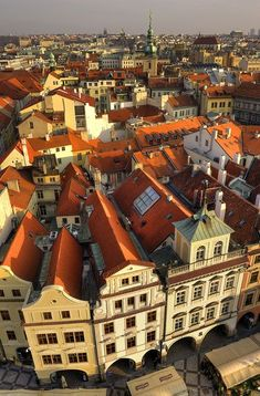 view in Prague / Czech Republic (by. Rooftop view in Prague / Czech Republic (by view in Prague / Czech Republic (by Beautiful Places In The World, Most Beautiful Cities, Prague Travel, Prague Czech Republic, Old Town Square, Eastern Europe, Architecture, Monuments, Rooftops