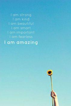 I am amazing!!!