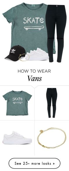 """""""There's no skateboarding emoji❔❕"""" by southernstruttin on Polyvore featuring adidas Originals, Vans and Liberty"""