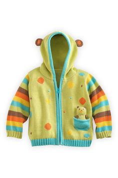 These baby products are so cute! Joobles Organic Baby Cardigan Sweater - Huggy the Bear