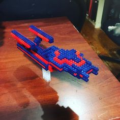 Starship based on Enterprise from Star Trek. 299 pieces. #startrek #starship #spaceship #nano #nanoblock #bricks #brickbuilding #microblocks #megablocks #lego #legoland #legocity #toy