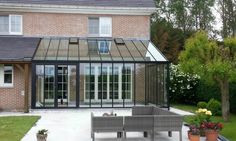 Conservatory Extension, Conservatory Kitchen, Garden Room Extensions, House Extensions, Garden Architecture, Architecture Design, Greenhouse Attached To House, Pergola Patio, Backyard