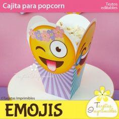 Emojis nena Cajita de popcorn