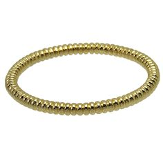 Giles & Brother - Bright Gold Millegrain Bangle