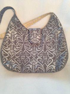 Phoebe Bag  Shimmer Metallic in Pewter by jldesigns4hope on Etsy