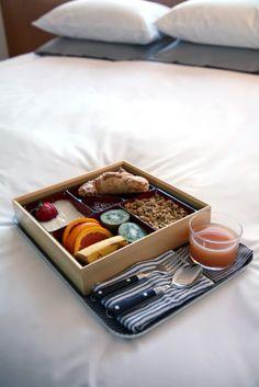 ♂ eco gentleman neatly organic health breakfast on top of bed