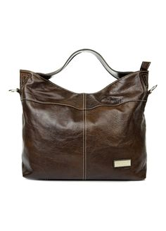 Louis Italian Leather Handbags - 8152-92-Brown-Louis Sacred Italy Cow Leather  Tote Bag 8a8143bc549