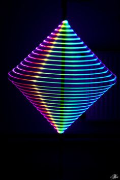 Lightpainting Technik: Würfel