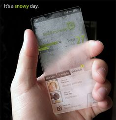 I don't know if this actually exists, but I want this window phone that changes with the weather!!!