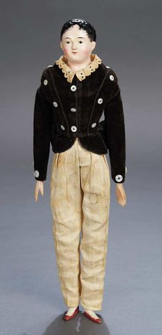 The Legendary Spielzeug Museum of Davos: 296 Early German Paper-Mache Boy in Original Costume