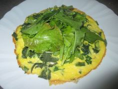 FORNELLI IN FIAMME: OMELETTE WITH SPINACH BEET AND SALAD - Frittata con spinaci, bietole e insalata