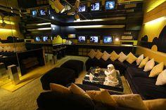 GRACELAND   Elvis Presley's TV room in Graceland