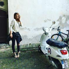 Mes princeses - bobos paprastos #crown #blonde #jeans #vespa #green #white #grass#leatherjacket #leather #stiliusos #style#stylist #stylish #streetstyle #streetphotography #streetfashion #fashion #fashionblogger #fashionista #fashiondiaries #fashionaddict #fashionblog #chanelbag #spaceboutique by agne_stiliusos