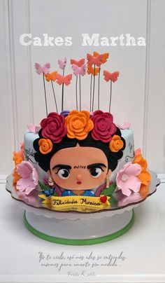 Pastel de Frida Kahlo Gorgeous Cakes, Amazing Cakes, Frida Kahlo Birthday, Fiesta Cake, Mexican Party, Cakes For Boys, Occasion Cakes, Love Cake, Cute Cakes