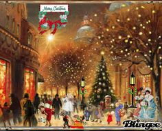 christmas shopping vintage Picture #127178698 | Blingee.com