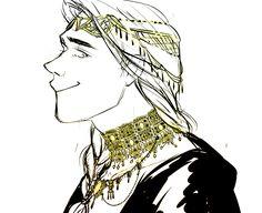 King Felagund wearing the Nauglamír by jubah