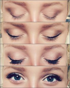 """nudecolours: """"EYE MAKE UP TUTORIAL my makeup style is based on looking good """"in real life"""". Coloured / really dark heavy eyeshadow can look really good in pictures, but in real life I don't think I've..."""