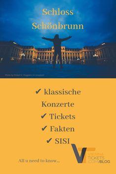 Alles was Sie über Schönbrunn in Wien wissen sollten! Leicht verdaulich. Tickets für ein klassisches Konzert... Kaiser Franz, Online Tickets, Orchestra, Vienna, Movie Posters, Classical Music, Communities Unit, History, Knowledge