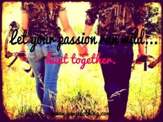 Let your passion run wild, hunt together  camo, bow, hunt, hunting, love, holding hands, field, outdoors, wrangler, country, girl, boy, couple, cute, gwg  www.gwgclothing.com
