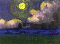 dappledwithshadow:  Moon over the Marsh, Emil Nolde c. 1925