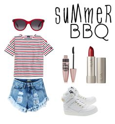 """""""summer nights"""" by rvrule on Polyvore featuring interior, interiors, interior design, home, home decor, interior decorating, Saint James, Moschino, Alexander McQueen and Ilia"""
