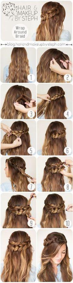 Hairstyle Tutorial | http://missdress.org/hairstyle-tutorial-6/ . http://www.hairstyles-haircuts.com/