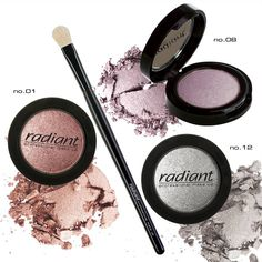 Diamond Effect Shadows | Radiant Professional Make Up #Radiant #professional #eyeshadows #eyes #brushes #makeup