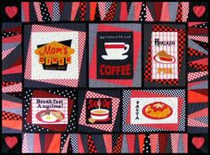 Mom's Diner Quilt Pattern #quilting