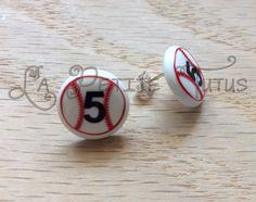 baseball earrings baseball tball softball jewelry by LaPetiteTutus