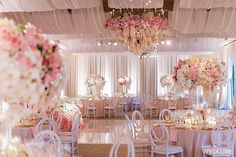 Photography: Jessica Claire | Design, Draping & Planning: A Good Affair Wedding & Event Production | Floral Design & Wall Display: Nisie's Enchanted Florist | Venue, Cake & Catering: The Resort at Pelican Hill | Chairs: Blueprint Studios | Lighting: Honored Occasions | Tableware: Casa de Perrin