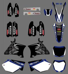 0126 New Style TEAM GRAPHICS&BACKGROUNDS DECALS STICKERS Kits for  Yamaha YZ125 YZ250 2002 03 04 05 06 07 08 09 2010 2011 2012 #Affiliate