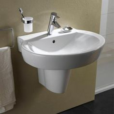 Vitra Sunrise Basin & Semi-Pedestal. Vitra Bathroom Collection is a complete range of bathroom products. Excellent quality combined with real value, provides a recipe for success for the retailer and the consumer alike. http://www.dealsonbathrooms.co.uk/vitra-sunrise-basin-semi-pedestal.html#.VA64n_mwJKU