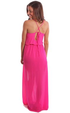 DRAPE EXPECTATIONS MAXI DRESS