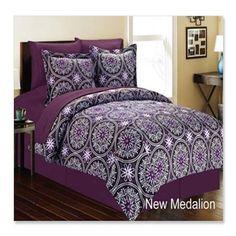 New medallion 8 Piece Comforter Bed In A Bag Set QUEEN