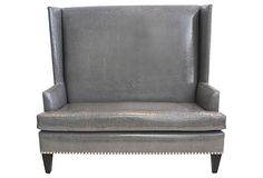 I want to live with, actually build, pieces like this. Custom Wingback  Settee on OneKingsLane.com