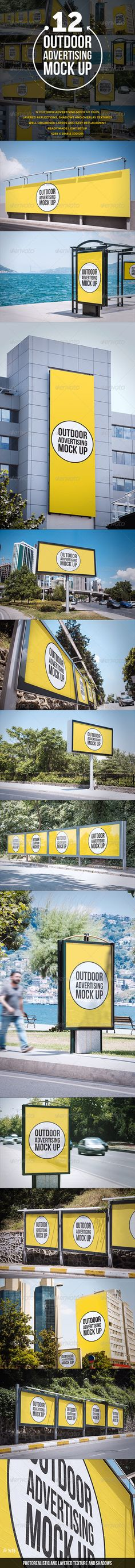 Outdoor Advertising Mock Up — Photoshop PSD #mock-up #showcase • Available here → https://graphicriver.net/item/outdoor-advertising-mock-up/8787067?ref=pxcr