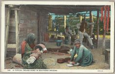 US Postcard Indian Home in Southern Arizona Working People House Baby Child | eBay