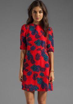 Kelly Ripa wearing Marc by Marc Jacobs Mareika Tulip Printed Dress.
