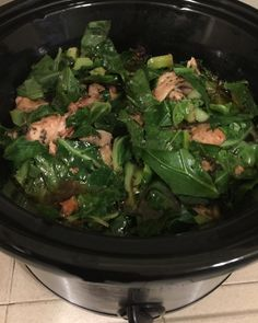 #Crockpot #meals are awesome!  #chickenthighs  #potatoes #celery  #onion #balsamicvinegar #chickenstock  #olive oil & #collardgreens added at the end. #Yummy!