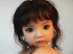 polymer clay dolls by kim van d wetering | Gina' doll by Geri Uribe from The Doll Stdio