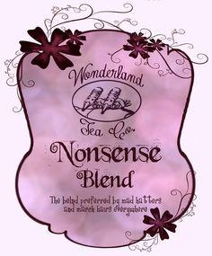 Wonderland-Tea-Label-3 | Flickr - Photo Sharing!