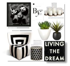"""Living The Dream'"" by dianefantasy ❤ liked on Polyvore featuring interior, interiors, interior design, home, home decor, interior decorating, Dot & Bo, CB2, Pomax and Sonam Life"