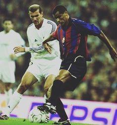 What a battle   #zidane #zinedinezidane #rivaldo #elclasico #barcelona #fcbarcelona #barca #realmadrid #halamadrid #footballshirtcollective #laliga