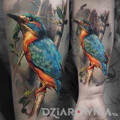Tatuaże 3D, realistyczne, zwierzęta, na przedramieniu, dla mężczyzn: tatuaż Ptak 3D