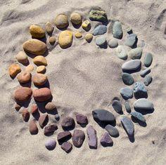 Chakra beach rocks