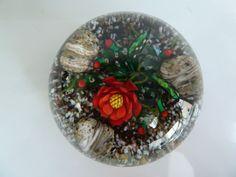 Ken Rosenfeld Christmas Cactus Desert Scene Paperweight 1996